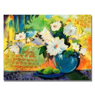 Shelia Golden 'Yellow Wall' Canvas Art