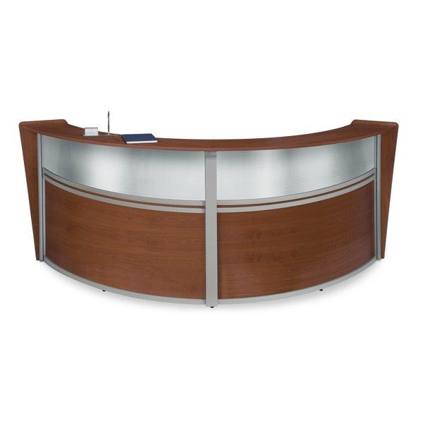 OFM Cherry Marque Plexi Double Reception Station Free