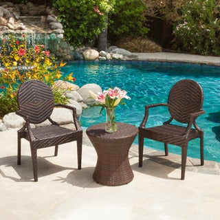 Adriana PE Wicker 3-peice Outdoor Set by Christopher Knight Home
