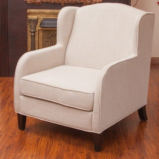Tilly Natural Fabric Club Chair by Christopher Knight Home