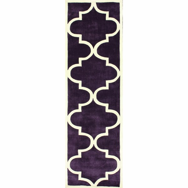 nuLOOM Handmade Luna Moroccan Trellis Runner Rug (2'8 x 10')