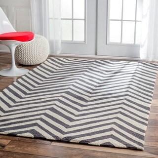 nuLOOM Handmade Alexa Chevron Wool Rug (3'6 x 5'6)