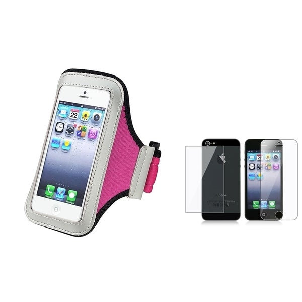 INSTEN Armband Phone Case Cover/ LCD Protector Set for Apple iPhone 5/ 5S
