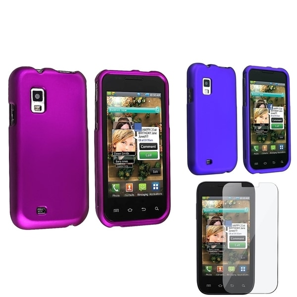 BasAcc Purple Case/ LCD Protector Set for Samsung Fascinate Galaxy S