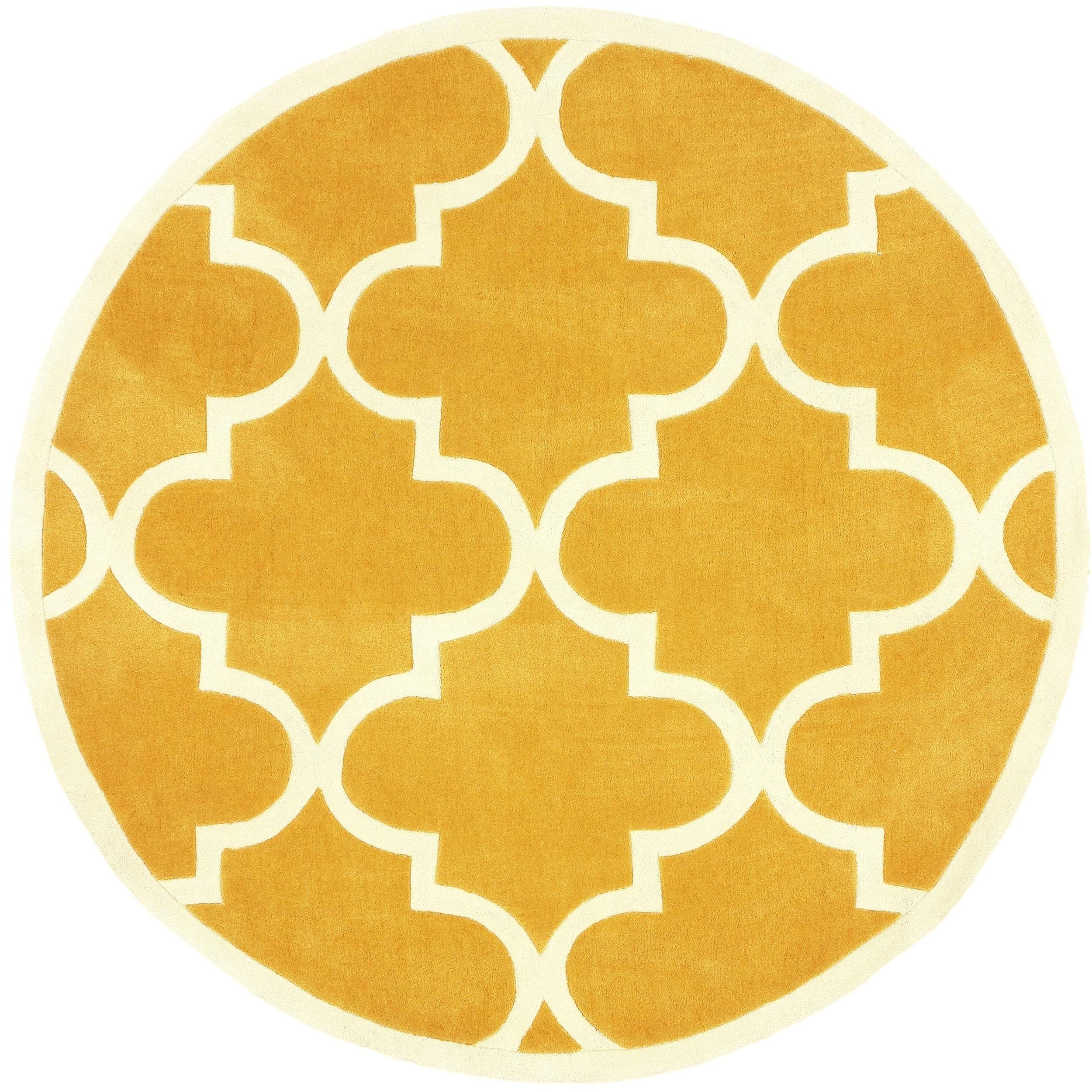 nuLOOM Handmade Luna Moroccan Trellis Round Rug (6' Round...