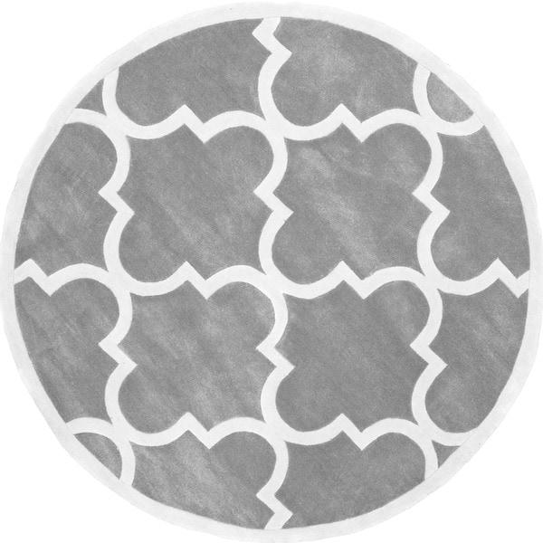 NuLOOM Handmade Luna Moroccan Trellis Round Rug (8u0027 Round)