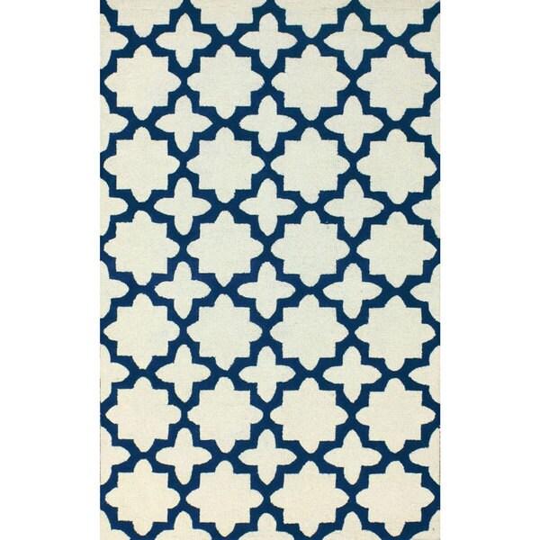 Shop NuLOOM Handmade Moroccan Trellis Ivory Wool Rug