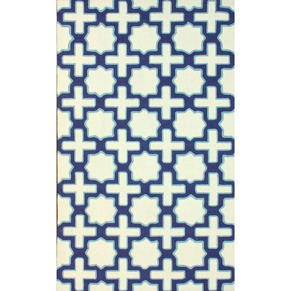 nuLOOM Handmade Marrakesh Trellis Ivory Wool Rug (8'6 x 11'6)