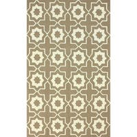 nuLOOM Handmade Marrakesh Trellis Brown Wool Rug (5' x 8') - 5' x 8'