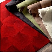 "nuLOOM Handmade Bold Floral Wool Rug (8'3 x 11') - 8'3"" x 11'"