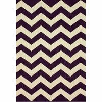 nuLOOM Handmade Flatweave Chevron Wool (5' x 8') - 5' x 8'