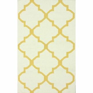 nuLOOM Handmade Flatweave Moroccan Trellis Wool (5' x 8')