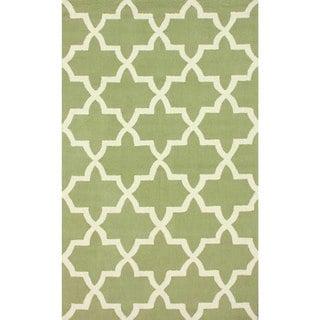 nuLOOM Handmade Alexa Moroccan Trellis Wool Rug(5' x 8')