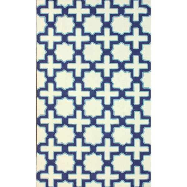 nuLOOM Handmade Marrakesh Trellis Abstract Ivory Wool Rug (5' x 8') - 5' x 8'