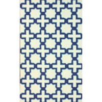 nuLOOM Handmade Marrakesh Trellis Abstract Ivory Wool Rug - 5' x 8'