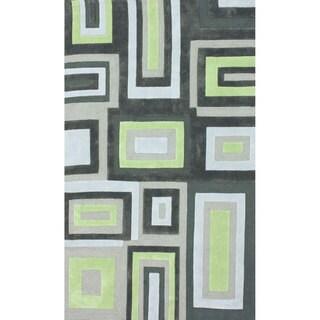 nuLOOM Handmade Geometric Multi Rug (7'6 x 9'6)