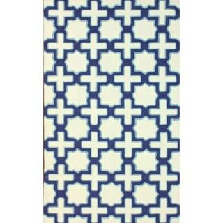 nuLOOM Handmade Marrakesh Trellis Ivory Wool Rug (7'6 x 9'6)