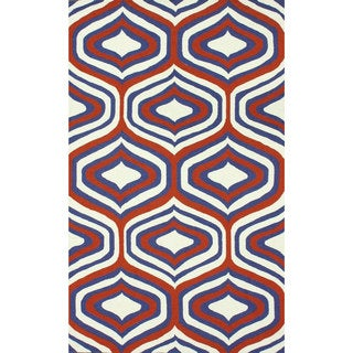 nuLOOM Handmade Retro Orange Wool Rug (7'6 x 9'6)