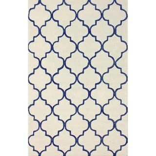 nuLOOM Handmade Moroccan Trellis Faux Silk / Wool  (5' x 8')