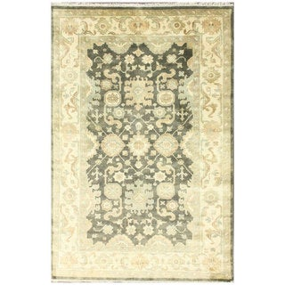 nuLOOM Hand-knotted Traditional Charcoal Wool Rug (8' x 10')