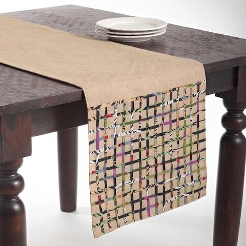 Open Weave Design Jute Table Runner