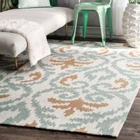 nuLOOM Handmade Ikat Rug (6' x 9') - 6' x 9'