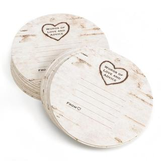 HBH 'Words of Love and Advice' Woodgrain Design Coasters