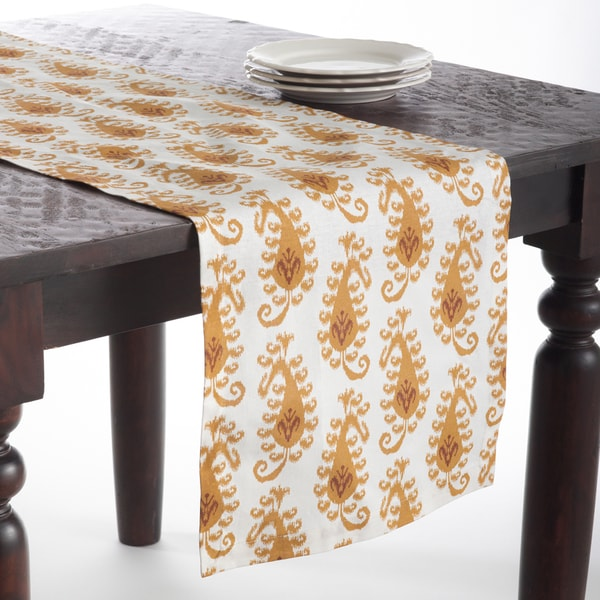 Mustard Color Print Table Runner