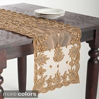 Hand Beaded Design Table Topper or Runner