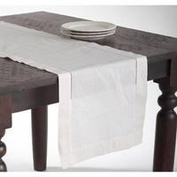 Hemstitched Linen Blend Table Runner