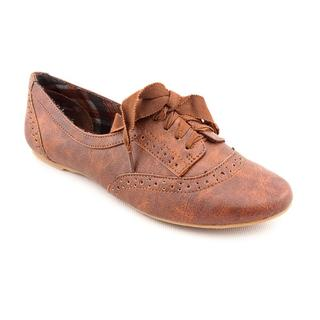 Not Rated Women's 'The Boyfriend' Brown Man-Made Dress Shoes ...