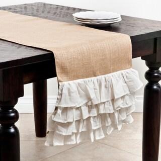 Ruffle Design Jute Table Runner