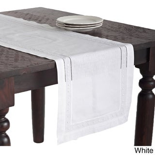 Embroidered and Hemstitched Table Runner