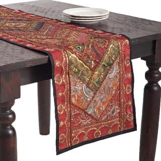 Superbe Handmade Sari U0027Sitarau0027 Table Runner