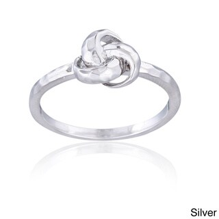 Mondevio Sterling Silver Hammered Love Knot Ring