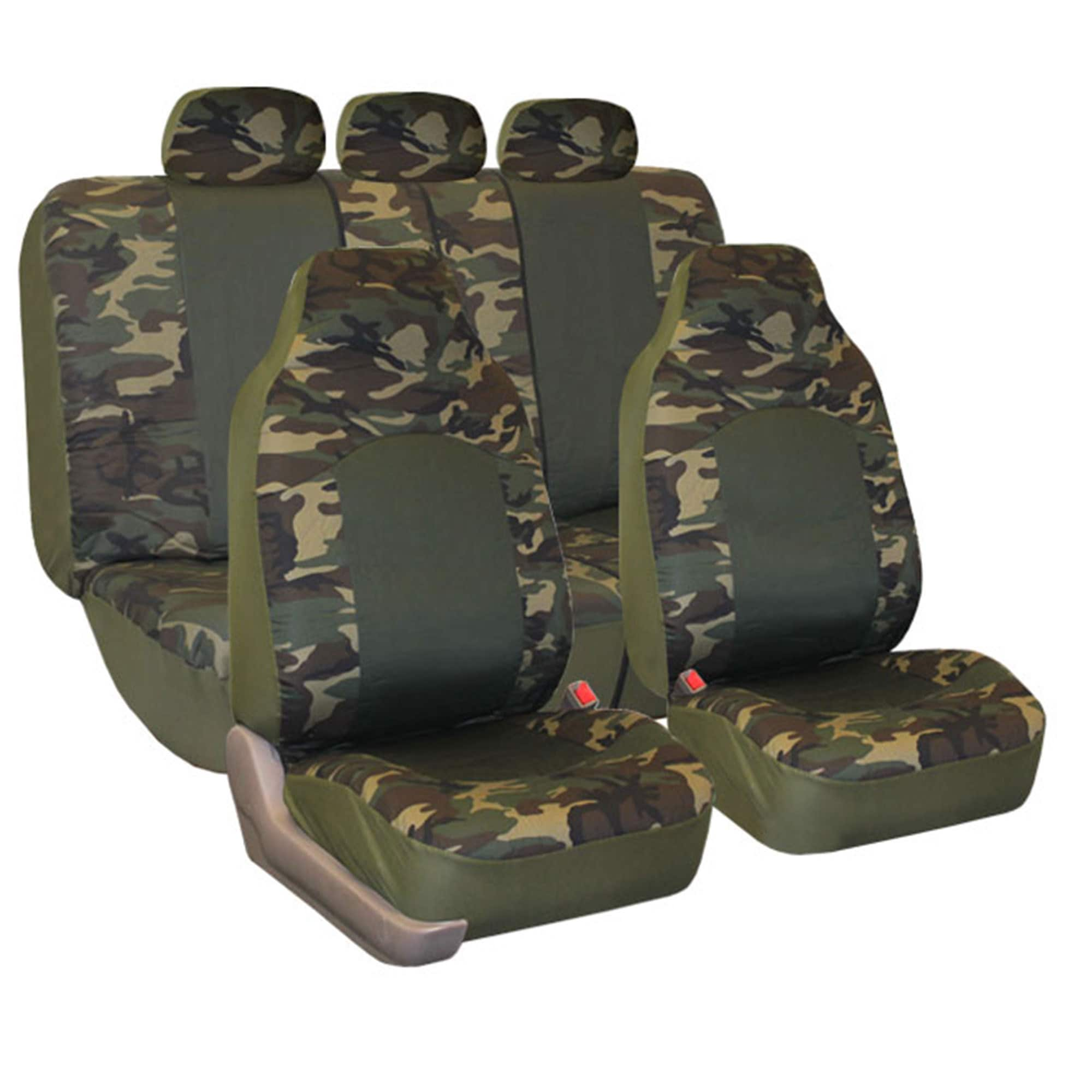 FH Group Camouflage Airbag-safe Car Seat Covers (Full Set...