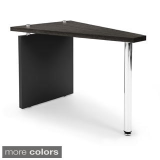 OFM Black Top Stainless Steel Wedge Table