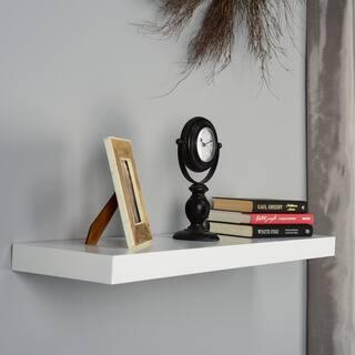 Porch & Den Hi-Line 36-inch White Floating Shelf