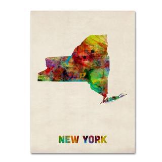 Michael Tompsett 'New York Map' Canvas Art