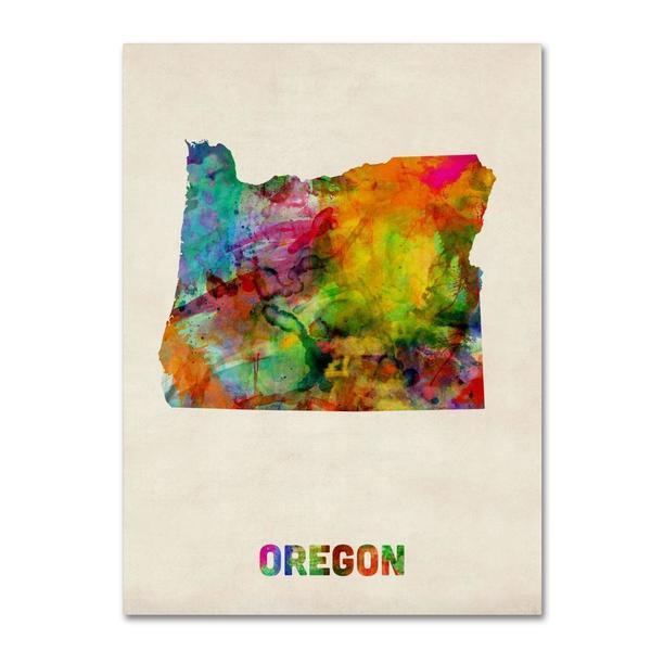 Free Oregon Map.Shop Michael Tompsett Oregon Map Canvas Art Multi Free