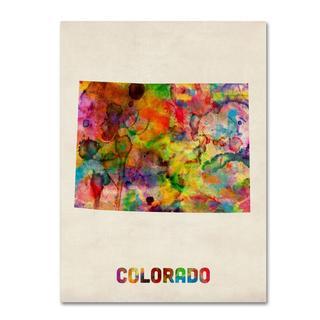 Michael Tompsett 'Colorado Map' Canvas Art