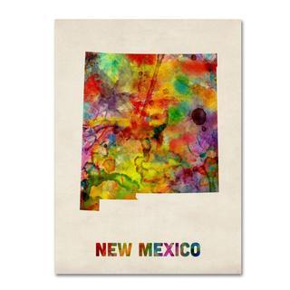 Michael Tompsett 'New Mexico Map' Canvas Art