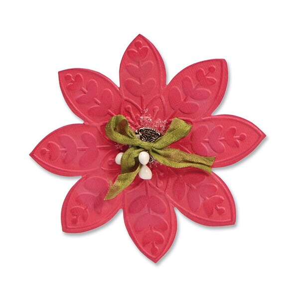 Sizzix Bigz Die with Bonus Textured Impression Embossing Folder - Flower #2 by Beth Reames