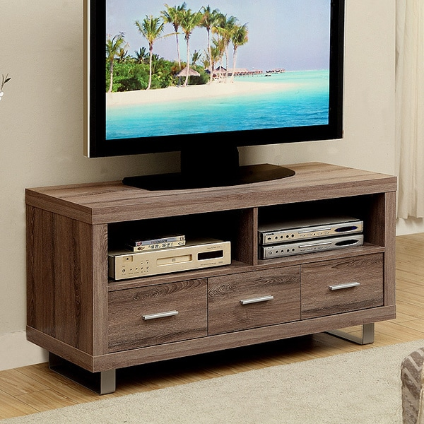 Shop Dark Taupe Reclaimed Look 48 Inch Tv Console With 3