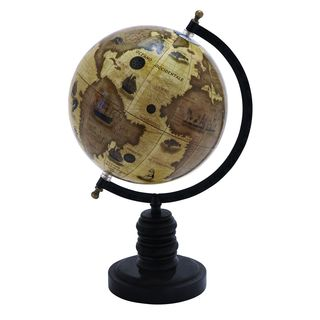 Contemporary Wood and Metal Globe
