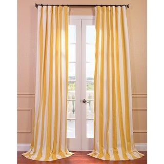 Curtains Ideas brown white striped curtains : Exclusive Fabrics Cabana Yellow Printed Cotton Curtain Panel ...