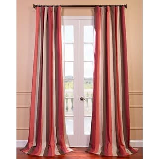 Exclusive Fabrics Picante Stripes Printed Cotton Curtain Panel