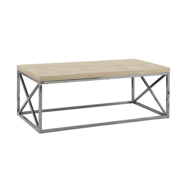 Shop Natural Reclaimed-look Chrome Metal Cocktail Table