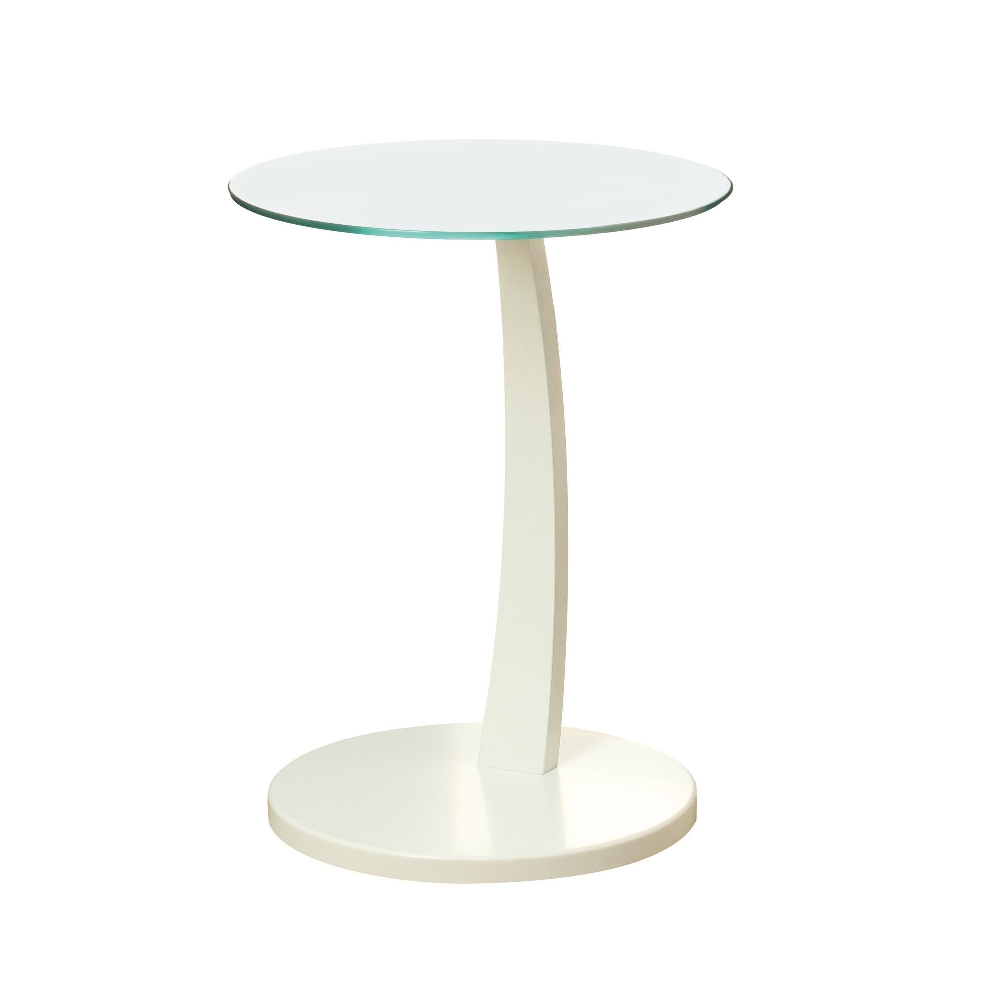 - Shop White Bentwood Tempered Glass Accent Table - Overstock - 8285896