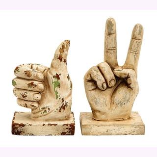 Polystone Gesture Decorative Sculptures (Set of 2)